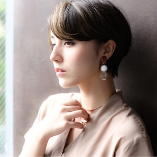 秋 ベリーショート 透明感 ショート ヘアスタイルや髪型の写真・画像 ヘアスタイルや髪型の写真・画像