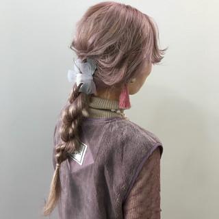 愛され ロング ガーリー 簡単ヘアアレンジ ヘアスタイルや髪型の写真・画像
