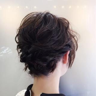 黒髪 簡単ヘアアレンジ 夏 大人かわいい ヘアスタイルや髪型の写真・画像