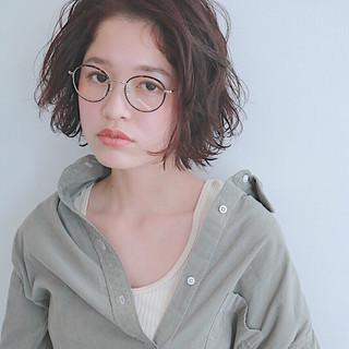 ウェーブ ボブ 色気 ニュアンス ヘアスタイルや髪型の写真・画像