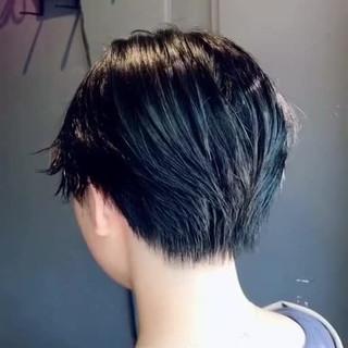 ハンサムショート oggiotto ナチュラル 透明感カラー ヘアスタイルや髪型の写真・画像
