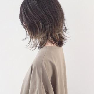 グラデーションカラー ボブ 外国人風カラー バレイヤージュ ヘアスタイルや髪型の写真・画像