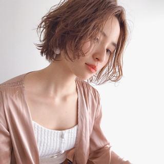 冬 外国人風 ナチュラル ショート ヘアスタイルや髪型の写真・画像