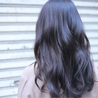 ハイライト 黒髪 アッシュ 暗髪 ヘアスタイルや髪型の写真・画像
