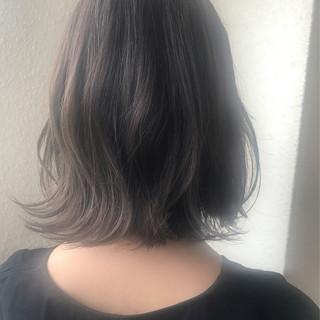 ナチュラル ミディアム 外ハネ 秋 ヘアスタイルや髪型の写真・画像