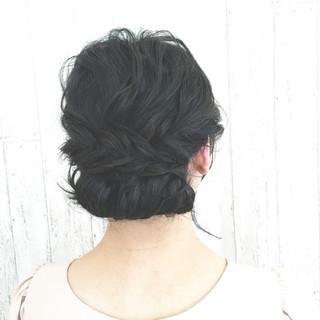 ゆるふわ 大人かわいい ヘアアレンジ 黒髪 ヘアスタイルや髪型の写真・画像