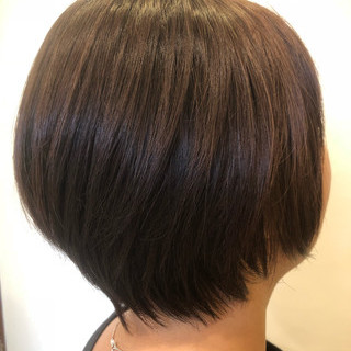 ナチュラル 艶髪 色気 ボブ ヘアスタイルや髪型の写真・画像