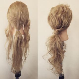 フェミニン 簡単ヘアアレンジ ロング 大人かわいい ヘアスタイルや髪型の写真・画像