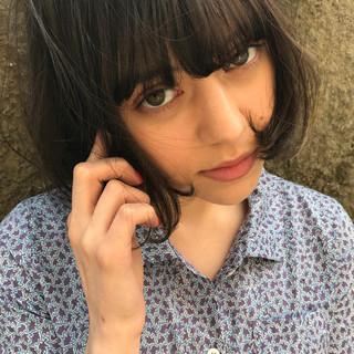 モード リラックス アンニュイ ボブ ヘアスタイルや髪型の写真・画像 ヘアスタイルや髪型の写真・画像