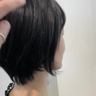 デート ショート ハンサムショート ショートボブ ヘアスタイルや髪型の写真・画像