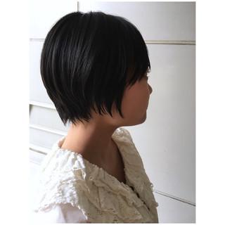 ショートボブ 黒髪ショート ショートヘア 黒髪 ヘアスタイルや髪型の写真・画像