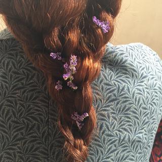 ヘアアレンジ 外国人風 フェミニン ロング ヘアスタイルや髪型の写真・画像