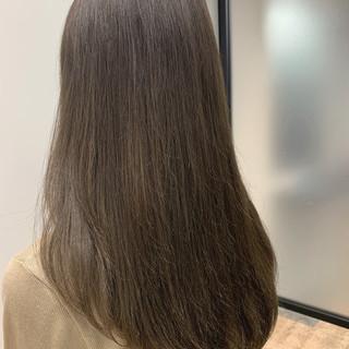 大人可愛い ロング 透明感カラー 似合わせカット ヘアスタイルや髪型の写真・画像