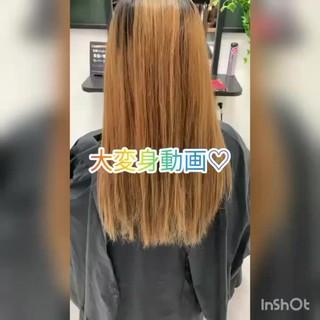 ロング ラベンダーピンク 外国人風カラー 3Dハイライト ヘアスタイルや髪型の写真・画像