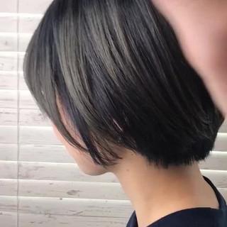 ヘアアレンジ ストリート グラデーションカラー グレー ヘアスタイルや髪型の写真・画像