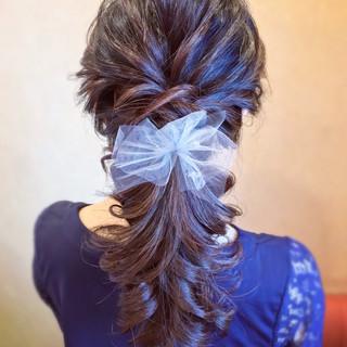 エレガント 簡単ヘアアレンジ ヘアアレンジ ロング ヘアスタイルや髪型の写真・画像 ヘアスタイルや髪型の写真・画像