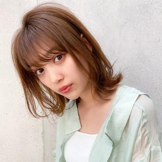 ナチュラル 簡単ヘアアレンジ ミニボブ ミディアム ヘアスタイルや髪型の写真・画像