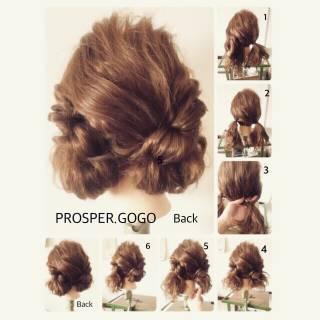 ショート セルフヘアアレンジ 簡単ヘアアレンジ 時短 ヘアスタイルや髪型の写真・画像 ヘアスタイルや髪型の写真・画像
