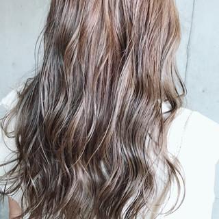 外国人風カラー ヘアアレンジ ロング ウェットヘア ヘアスタイルや髪型の写真・画像