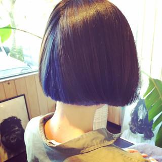 インナーカラー ストリート ボブ アッシュ ヘアスタイルや髪型の写真・画像