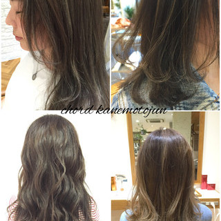 外国人風 ロング グラデーションカラー ハイライト ヘアスタイルや髪型の写真・画像
