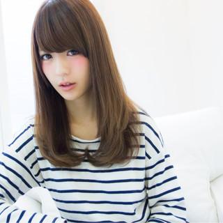 フェミニン 大人かわいい セミロング ゆるふわ ヘアスタイルや髪型の写真・画像