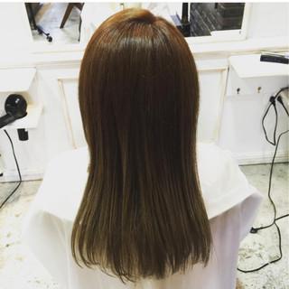 モテ髪 ナチュラル 外国人風 ブラウン ヘアスタイルや髪型の写真・画像