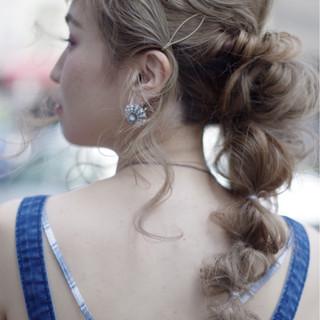 前髪あり ロング フェミニン 涼しげ ヘアスタイルや髪型の写真・画像