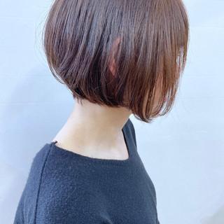 コンサバ アッシュ ミニボブ ショートボブ ヘアスタイルや髪型の写真・画像