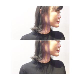 ストリート スポーツ アッシュ ピンク ヘアスタイルや髪型の写真・画像