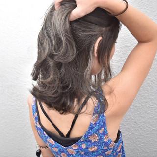 ストリート グレージュ ハイライト 外国人風カラー ヘアスタイルや髪型の写真・画像