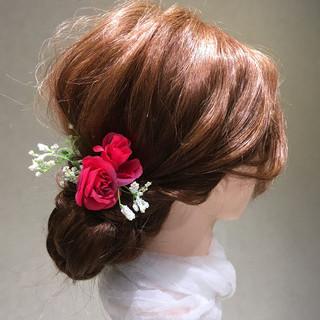 袴 謝恩会 ロング フェミニン ヘアスタイルや髪型の写真・画像