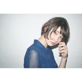 暗髪 フェミニン 前髪あり ピュア ヘアスタイルや髪型の写真・画像