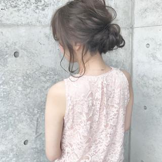 デート ロング 簡単ヘアアレンジ ナチュラル ヘアスタイルや髪型の写真・画像 ヘアスタイルや髪型の写真・画像