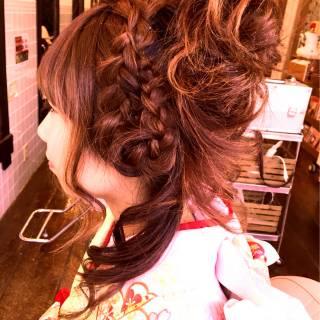 アップスタイル 成人式 コンサバ まとめ髪 ヘアスタイルや髪型の写真・画像