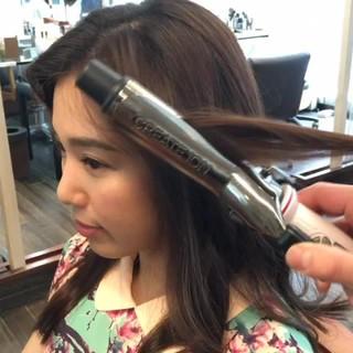 パーマ 簡単ヘアアレンジ ショート セミロング ヘアスタイルや髪型の写真・画像 ヘアスタイルや髪型の写真・画像