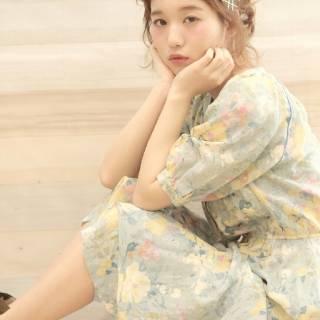 ガーリー 春 モテ髪 フェミニン ヘアスタイルや髪型の写真・画像