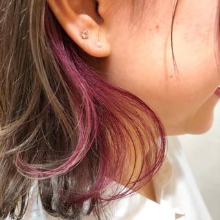 大人かわいい ピンク ボブ 外ハネ ヘアスタイルや髪型の写真・画像
