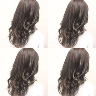 ハイライト セミロング 外国人風 ガーリー ヘアスタイルや髪型の写真・画像