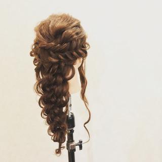 結婚式 ロング ヘアアレンジ アウトドア ヘアスタイルや髪型の写真・画像