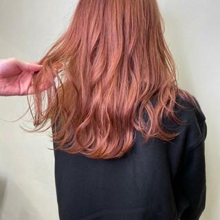 銀座美容室 フェミニン ロング ブリーチカラー ヘアスタイルや髪型の写真・画像