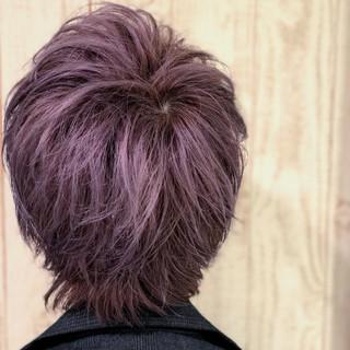 ベリー ラベンダー 春 ブリーチ ヘアスタイルや髪型の写真・画像