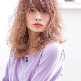 外国人風 愛され グラデーションカラー ガーリー ヘアスタイルや髪型の写真・画像