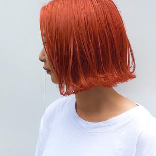 外ハネボブ 切りっぱなしボブ 切りっぱなし モード ヘアスタイルや髪型の写真・画像