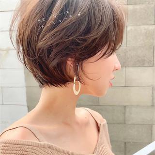 フェミニン ベリーショート ショートヘア ショート ヘアスタイルや髪型の写真・画像