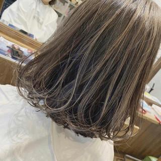モテボブ ボブ ナチュラル 3Dハイライト ヘアスタイルや髪型の写真・画像