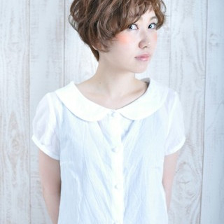 ショート 大人かわいい ベリーショート ナチュラル ヘアスタイルや髪型の写真・画像