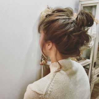 外国人風 ショート 簡単ヘアアレンジ ゆるふわ ヘアスタイルや髪型の写真・画像