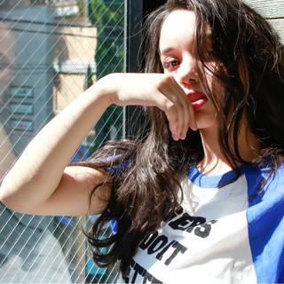 外国人風 ロング 外国人風カラー ストリート ヘアスタイルや髪型の写真・画像