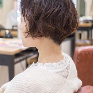 フェミニン ショートボブ ショートヘア ショートカット ヘアスタイルや髪型の写真・画像